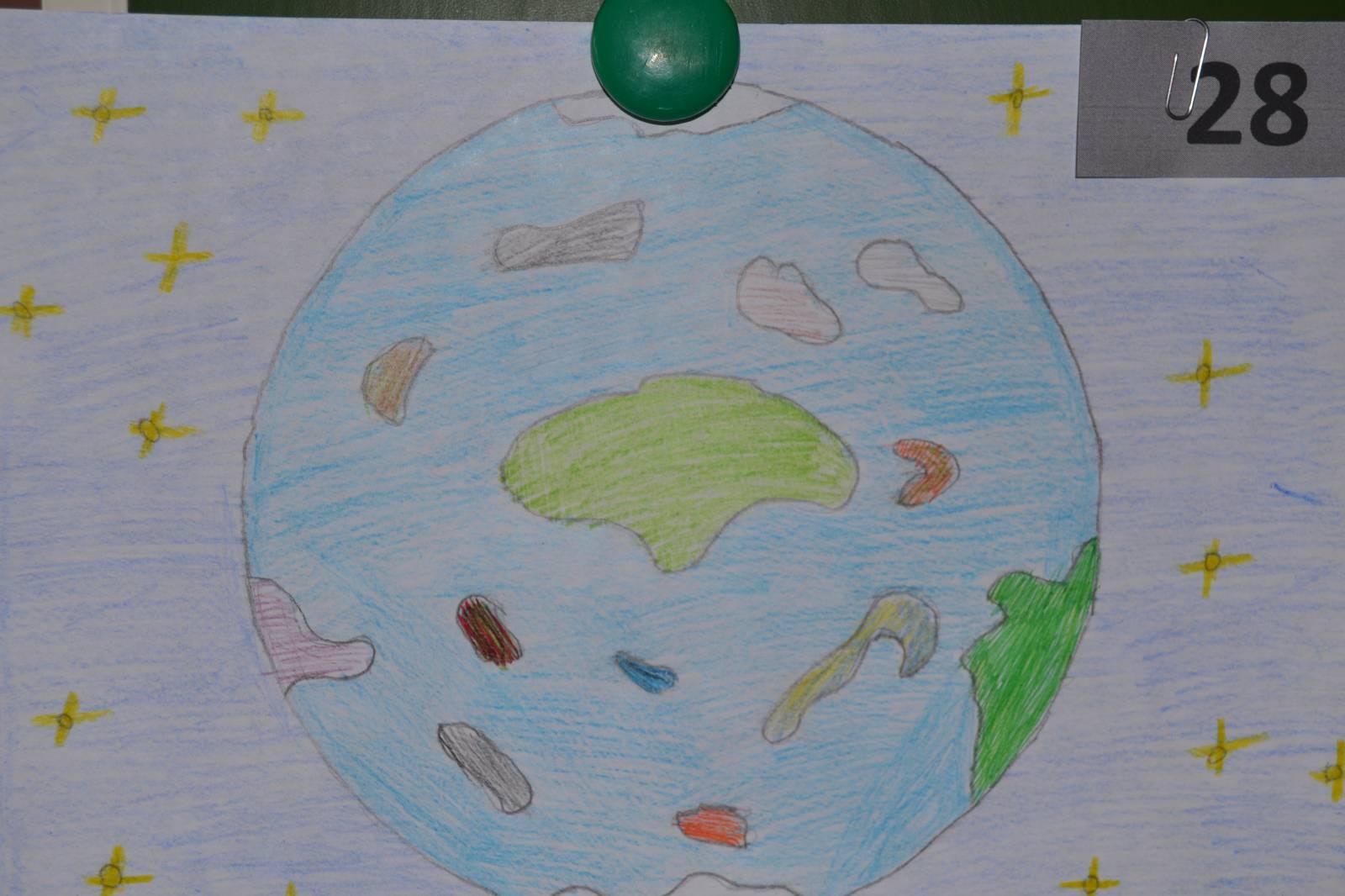 Зеленая планета рисунки детей 8